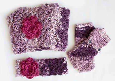 COZY POSY SET | CROCHET Say goodbye to crocheter's block EASY MATERIALS Caron® Simply Soft (Ombres: