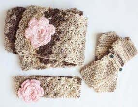 COZY POSY SET | CROCHET Say goodbye to crocheter's block 12th rnd: Ch 1. 1 sc