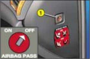 than 25mph (40km/h) or 40mph (60km/h) depending on engine. FRONT AIR BAGS Disarming the passenger air