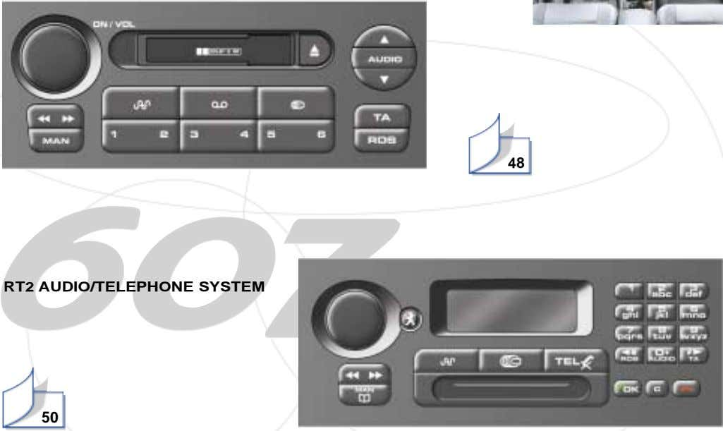48 RT2 AUDIO/TELEPHONE SYSTEM 50