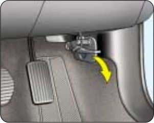 14 YOUR AT A GLANCE OPENING THE BONNET From inside: ☞ pull the handle downwards. FUEL