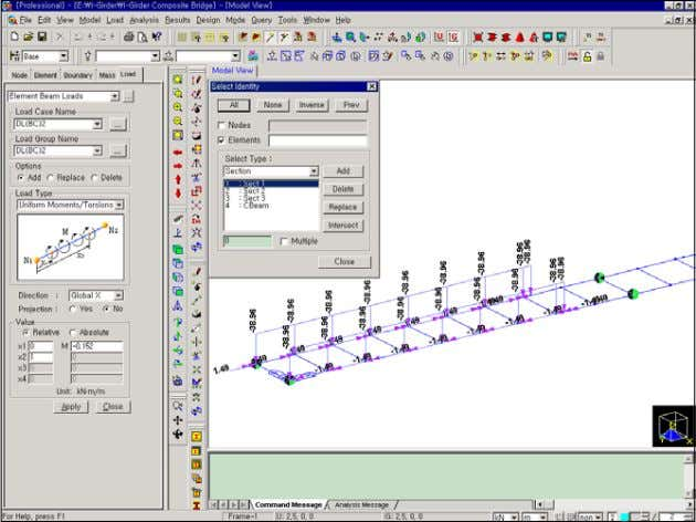 Construction Stage Analysis of a Bridge Using a Composite Secti on Assign Dead Loads for the