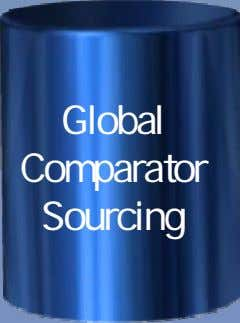 Global Comparator Sourcing