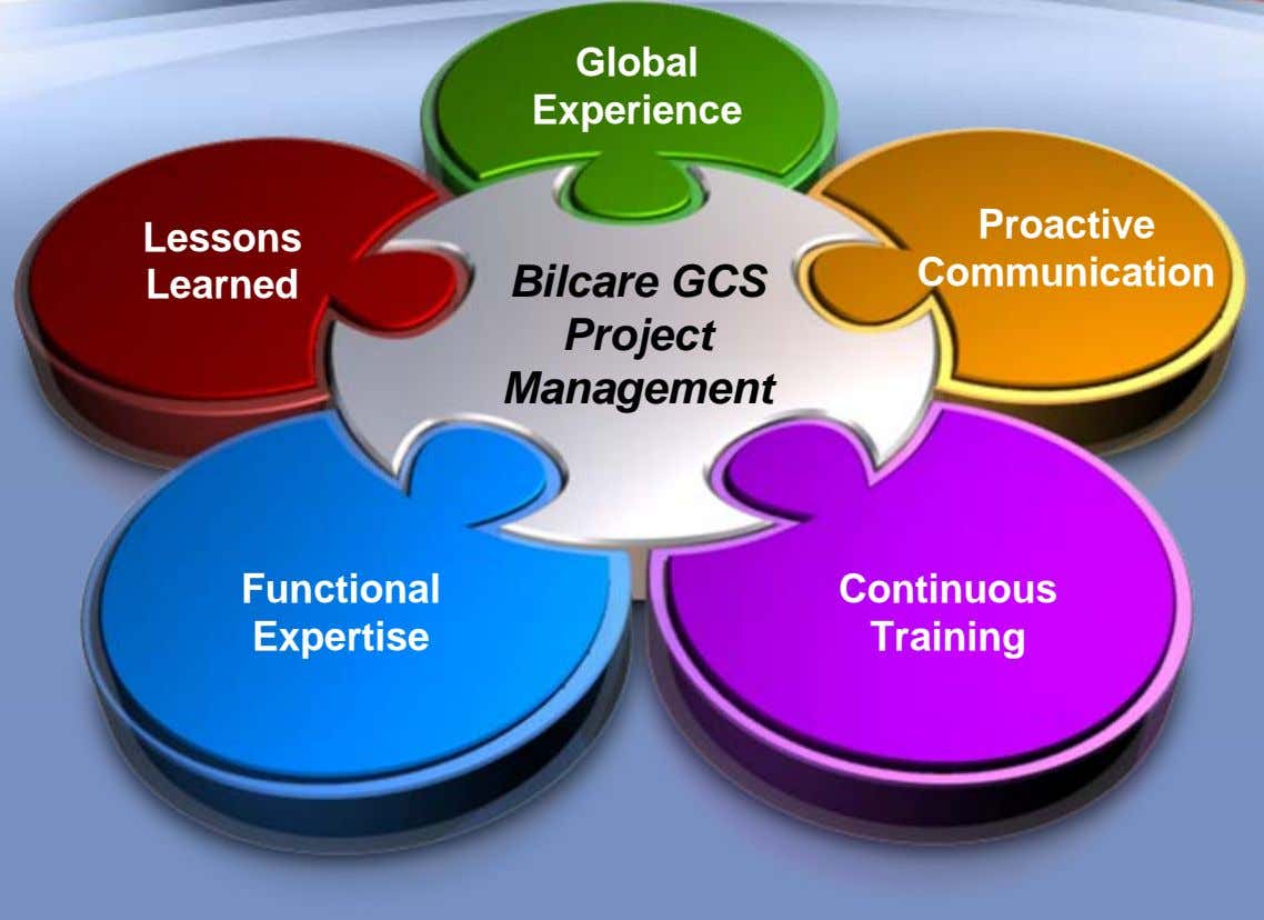Global Experience Proactive Lessons Communication Learned Bilcare GCS Project Management Functional Continuous