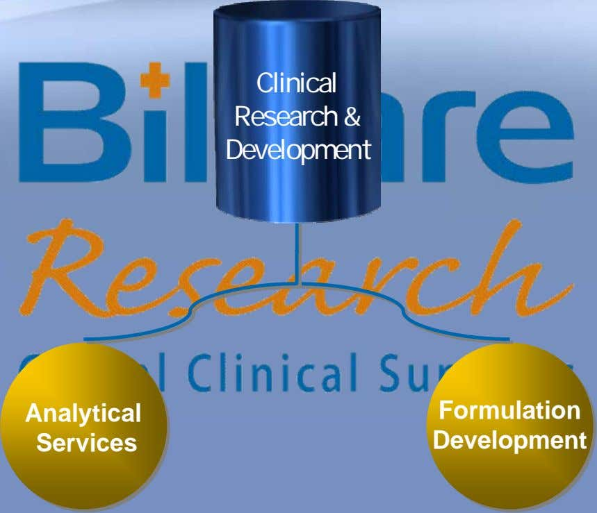 Clinical Research & Development Analytical Formulation Services Development