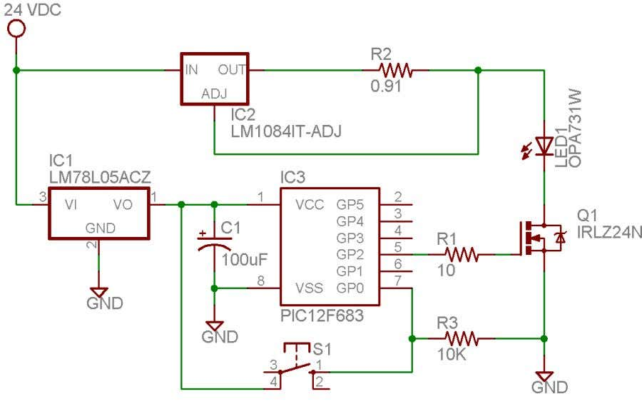 PWM Example Using Microchip's Capture/Compare/PWM Module Figure 1. Example Circuit Software Overview Calculations