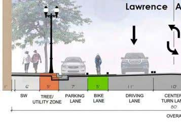 ROCKWELL • Incorporate temporary parklets. CROSSING • Develop a shared street for community fests 34