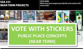 VOTE WITH STICKERS PUBLIC PLACE CONCEPTS (NEAR TERM)