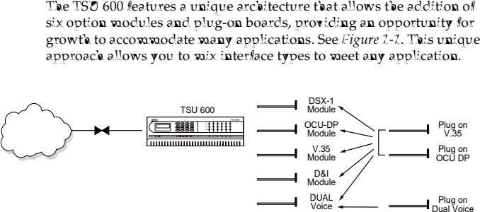 The TSU 600 features a unique architecture that allows the addition of six option modules