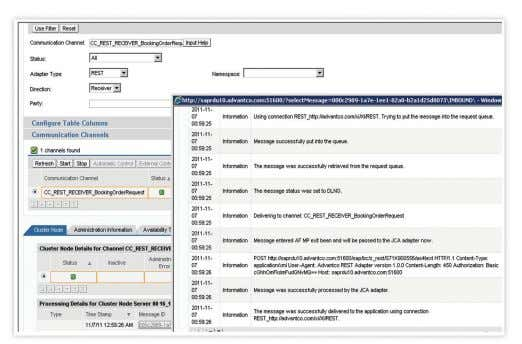 Web Based Support using Advantco Ticketing System. Figure 2: Integrated monitoring with the standard SAP