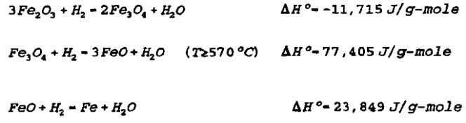 and the heat of reactions at 25°C are listed below The 1 s t reaction is