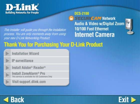 Wizard D-Link Systems, Inc. Click Installation Wizard . Please wait while the InstallShield Wizard prepares to