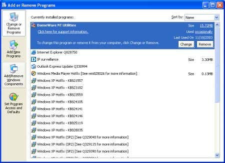 D-Link Systems, Inc. Click Add/Remove Windows Components . The following screen will appear. Select Networking
