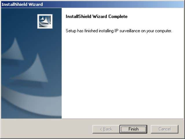 Click Finish , in the window shown below, to finish installation. The program is now installed