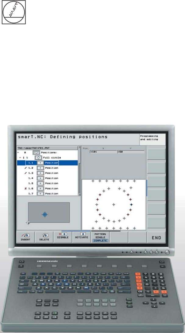 Operating Instructions Programming Station iTNC 530 NC Software 340 494-03 English (en) 8/2006
