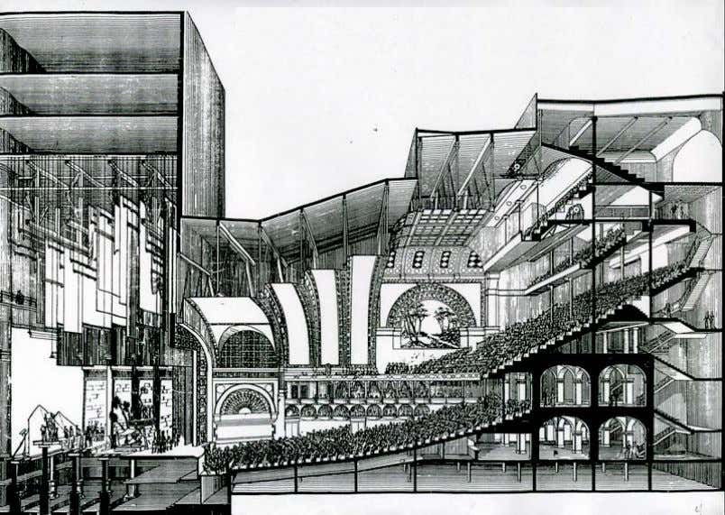 Corte Perspectivado. Auditorium Building - Chicago. Fonte: FORSYTH, 1985. 99