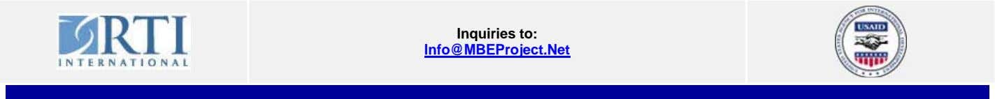 Inquiries to: Info@MBEProject.Net