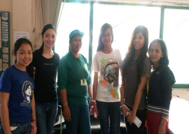 With the staff of CESET With one of the BOE; taken at Brgy. Apas 60
