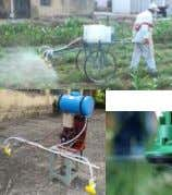 Pre- Weedicide  Trolley mounted low volume sprayer (Droplets of small size)