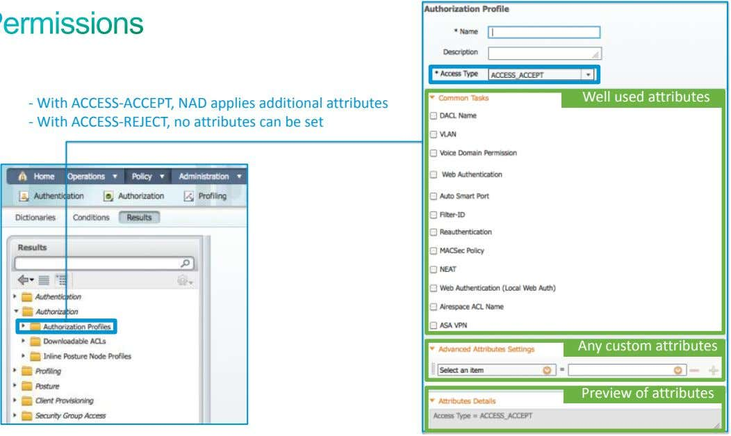 - With ACCESS-ACCEPT, NAD applies additional attributes Well used Well Profile used attributes attributes -