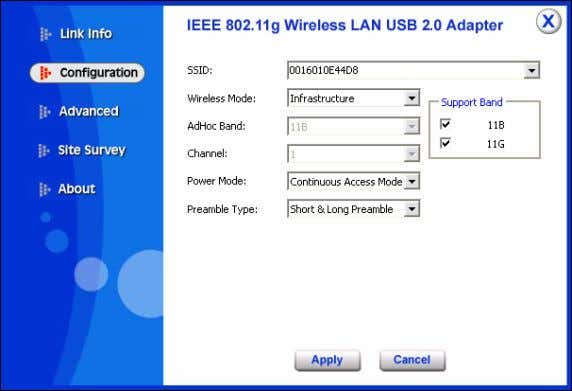 SSID: The SSID differentiates one Wireless LAN group name from another; so all access points