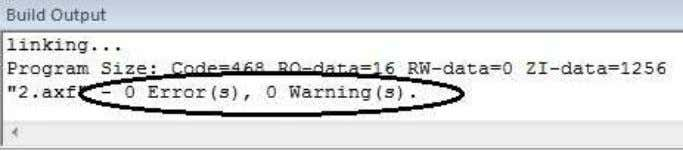 """0 Errors, 0 warning"" if code has no logical errors. ∑ Then, Click on Debug option"