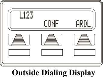 L123 CONF ARDL Outside Dialing Display