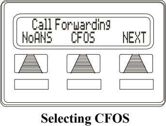 Call Forwarding NoANS CFOS NEXT Selecting CFOS