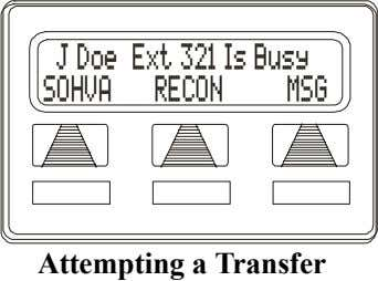 J Doe Ext 321 Is Busy SOHVA RECON MSG Attempting a Transfer