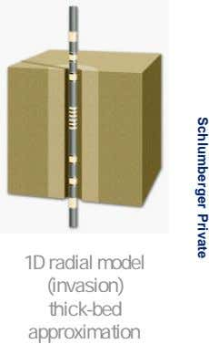 Schlumberger Private 1D radial model (invasion) thick-bed approximation