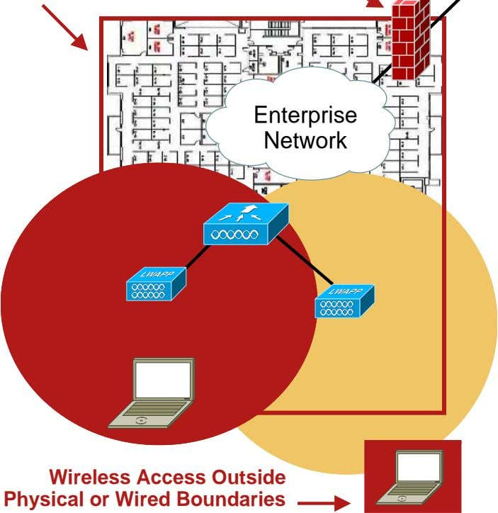 Enterprise Network Wireless Access Outside Physical or Wired Boundaries