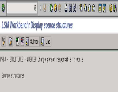 2. MAINTAIN SOURCE STRUCTURE • The system will take you the next screen……again in Display mode.
