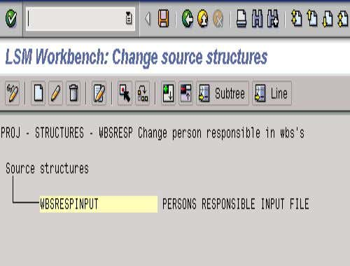 2. MAINTAIN SOURCE STRUCTURE • The structure name you set up will then be confirmed back