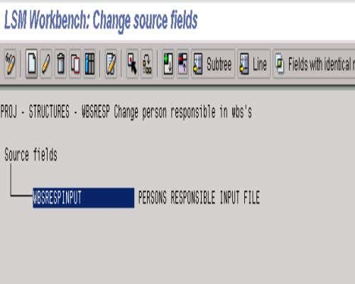3. MAINTAIN SOURCE FIELDS • When the system returns the screen shown here, highlight the structure