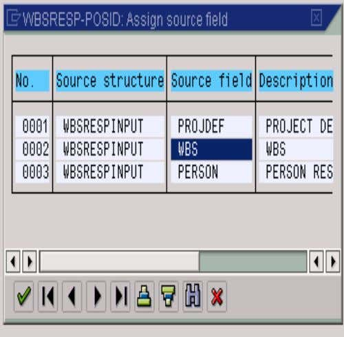 5. MAINTAIN FIELD MAPPING • Select the WBS field by double- clicking on it. • We