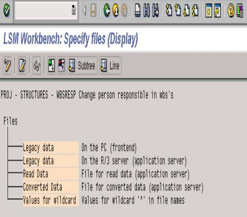 6. SPECIFY FILES • The system will take you to the screen to the left, in