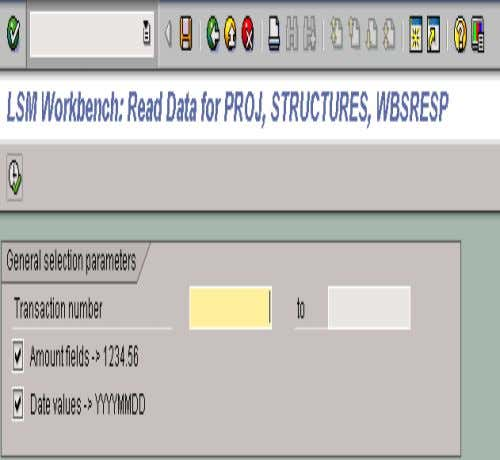 8. READ DATA • When the process screen positions itself on the Read Data line, click