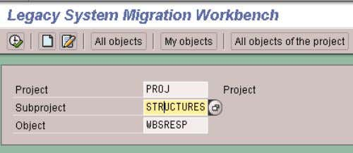 CREATING THE STRUCTURE 1. Highlight the Subproject level. 2. Click on the Create icon once again.