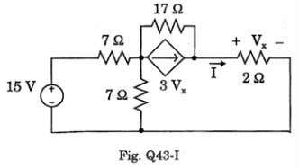 in Fig. Q43-I, the current I In through 2  resistor is a. -94.34 mA b.