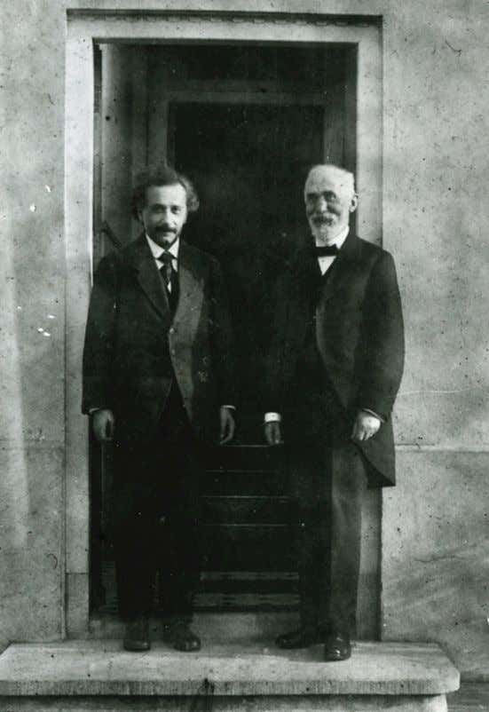 Albert Einstein and Hendrik Antoon Lorentz (1921) In the STR one can also replace the