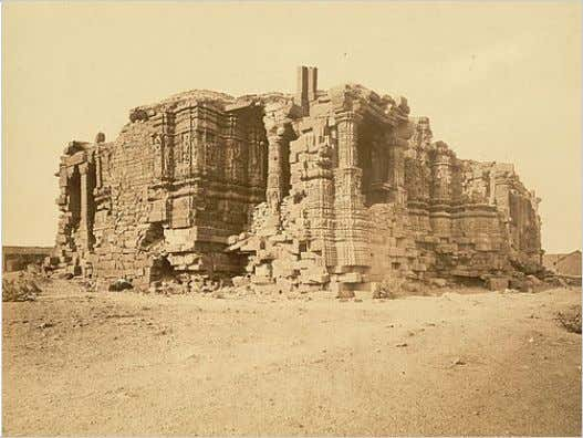 Somanatha Temple Prabhas Patan, Gujarat, from the Archaeological Survey of India, taken by D.H. Sykes