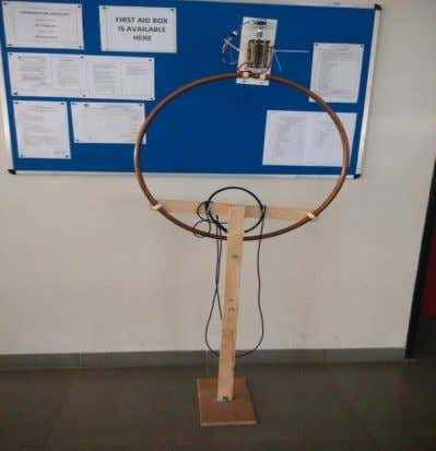 figure 7 shows the fabricated magnetic loop antenna setup. Figure 7: Fabricated antenna setup Figure 8: