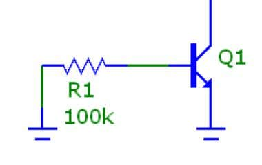 Determine the mode of operation of the transistor in the following circuits 5 V Resistance in