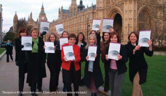 Therapists in MS launch their report. (Clare Laing is in the centre at the back.)