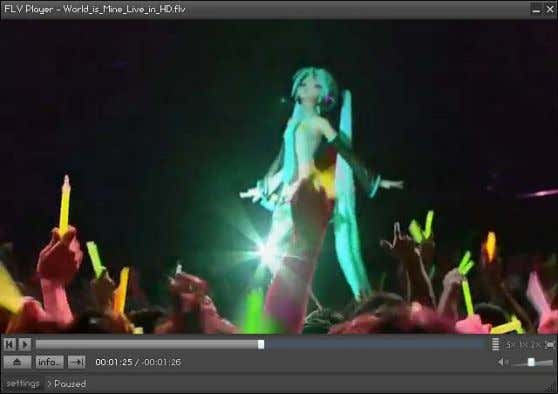 Vocaloid World is Mine Live in HD - Hatsune Miku http://www.youtube.com/watch?v=DTXO7KGHtjI