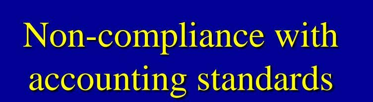 Non-compliance with accounting standards
