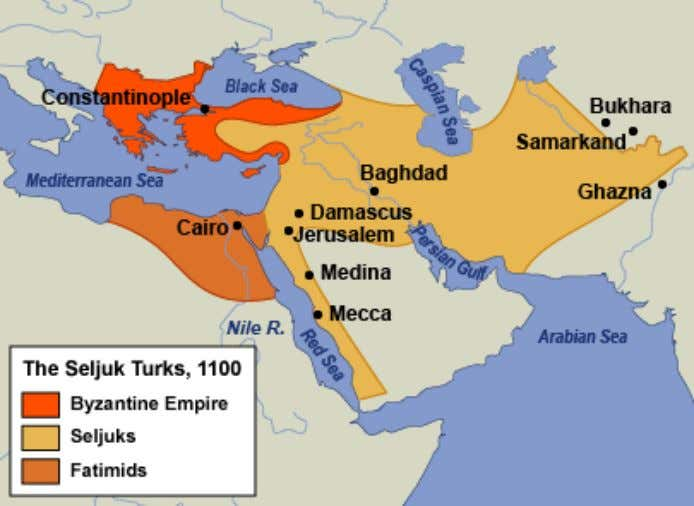 THE SELJUK TURKS • Ruled in the name of caliphs • Devout Sunnis • Restored political