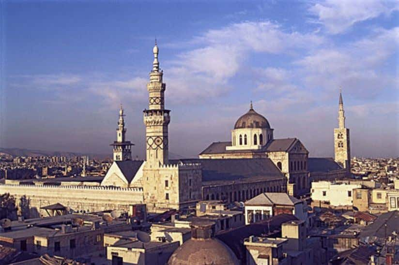 THE UMMAYAD CALIPHATE • Center of the Islamic world: Damascus • Mosque • Bazaar