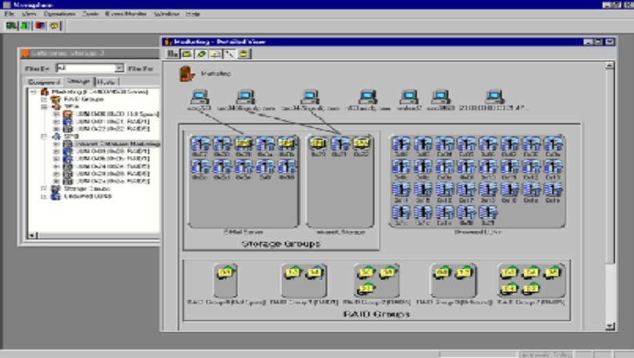 Figure 4 Screenshot of Navisphere Manager graphical user interface CX3 family storage systems are qualified to