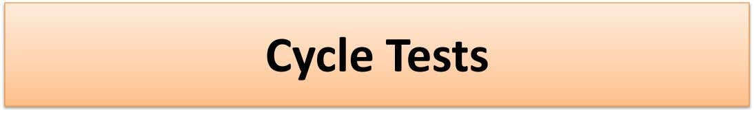 Cycle Tests